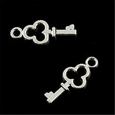 20  Tibetan Silver Key Charms Pendants 16mm