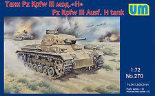 UM - 270 - Pz Kpfw III Ausf. H tank - 1:72   *** NEW ***