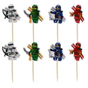 NINJAGO NINJA LEGO CAKE TOPPERS PICKS kids boys Kai birthday party choose no