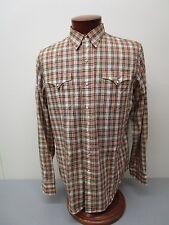 Vintage Polo Ralph Lauren Plaid  Woven Cotton Snap Front Western Shirt Size L