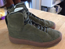 Puma Hi-Top Size 7 Eur 40.5. Khaki Real Suede Uppers.