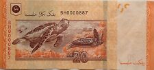 RM20 Zeti sign Low Number Note BH 0000887