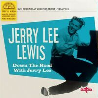 """Jerry Lee Lewis - Down The Road With Jerry Lee [New Vinyl LP] 10"""", Blue, Colored"""