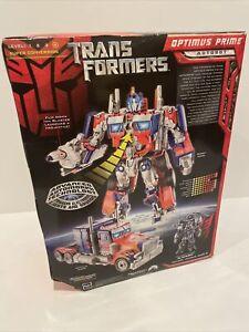 Optimus Prime Transformers Movie Leader Class Hasbro 2007 Sealed Skill Level 4
