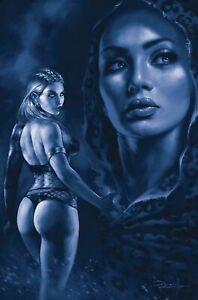 SACRED SIX #7 1:35 PARRILLO BLUE TINT VIRGIN  VARIANT DYNAMITE 021721