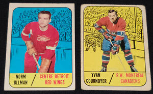 1967-1968 - TOPPS - NHL - HOCKEY CARDS (2) - YVAN COURNOYER + NORM ULLMAN