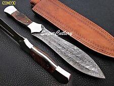 Custom Handmade Damascus Dagger Knife Damascus Bolster sheep handle Handle