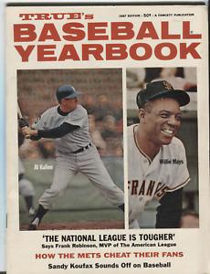 Trues Baseball Yearbook 1967 Edition Willie Mays Sandy Koufax 082520DBE
