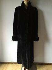 Gorgeous Black Sheared Mink Long Coat Size M-L