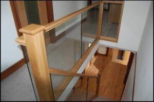 Glass Panel & Oak Landing Made To Measure Balustrade Kit - UK Manufactured!