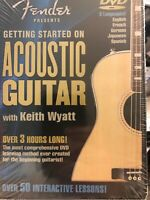 Getting Started on Acoustic Guitar (DVD, 2002) New Sealed Free Shipping