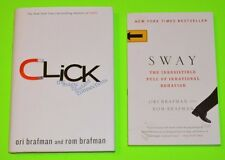 Lot of 2 Ori & Rom Brafman books, Sway & Click, Good to Great condition