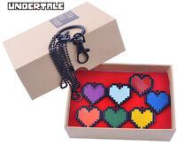 Undertale Sans Frisk LOVE Necklace Determination Bravery Pendant Keychain Set