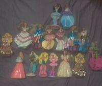 16 VTG Mattel Barbie Dolls McDonalds Happy Meal Cake Toppers Dancers ETC EUC