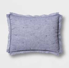 Opalhouse denim chambray Tufted linen blend pillow Sham Target project 62