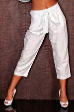 Leinenhose 7/8 Hose weiss weiß 40 Stiefelhose Leinen Leinenhose Business Culotte