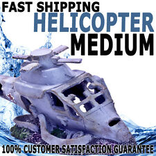 Aqua Aquarium Fish Tank Resin Ornament Fighter Helicopter Wreck Decoration