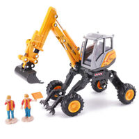 Brand New Heavy Duty Spider Excavator With Two Workers 3D Alloy Model For Boys