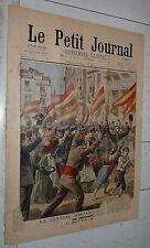 PETIT JOURNAL 1898 GUERRE USA - ESPAGNE CUBA / ACCIDENT AUTOMOBILE