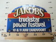 STICKER,DECAL JACOBS TRUCKSTAR POWER FESTIVAL ZANDVOORT BIG SIZE NOT 100 % OK