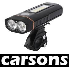 Carsons MULTIFUNZIONALE ricaricabile due led lampada a luce lavoro BICICLETTA SET KIT ANTERIORE