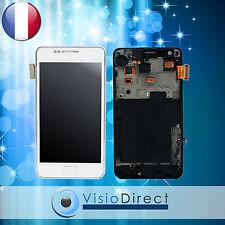 Ecran vitre complet sur chassis pour Samsung Galaxy S2 i9100 blanc