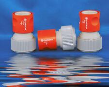 """3x GARDENA -System-Schlauchstück Wasserstop G 3/4"""" 0914-26 z.B Einsatz mit Pumpe"""