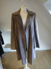 Joseph taupe suede double breasted coat
