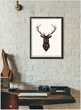 Stag Elk Print Fashion Poster Home Interior Wall Picture Decoration A4