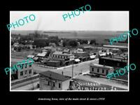 OLD LARGE HISTORIC PHOTO OF ARMSTRONG IOWA, THE MAIN STREET & STORES c1910