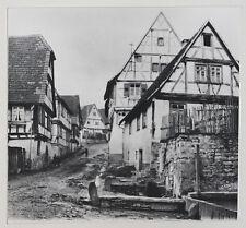 Vintage um 1915 Dorfszene Fachwerkbauten*J. DAIMER