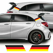 German Flag C-Pillar Graphics For Mercedes A Class A45 AMG W176 Decal Stickers