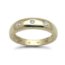 Three-Stone Yellow Gold Fine Rings