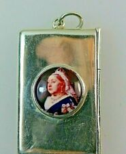 Queen Victoria Double Silver Stamp Case