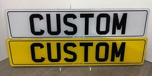 PERSONALISED Pair Show Custom Plates Printed On Number Plates NOT Road Legal