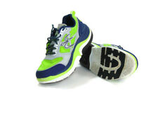 Gravity Defyer Men's Size 10 US Gray Blue Neon Ion Toning Running Athletic Shoes