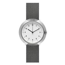 "Normal Timepieces ""Fuji"" Quarzo Acciaio Inox Bianco Nylon Orologio Uomo Tessuto"