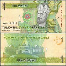 Turkmenistan 1 Manat Banknote, 2014, P-NEW, UNC