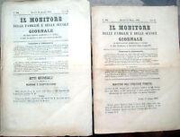 1862 LOTTO DI GIORNALE - RIVISTA 'IL MONITORE' DI PARMA