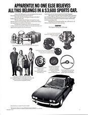 1972 FIAT 124 SPORT COUPE  ~  NICE ORIGINAL PRINT AD