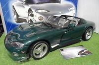 DODGE VIPER RT/10 Cabriolet vert 1/12 ANSON 30318 voiture miniature d collection
