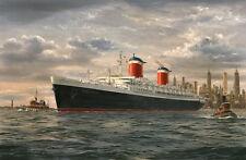 SS United States Ocean Liner Marine Painting Art Print - Robert Lloyd
