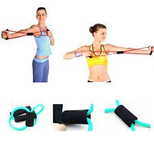 Home Sport Fitness Yoga 8 Shape Pull Rope Tube Equipment Tool Gym Green