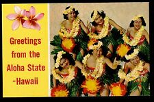c1954 Nani Li'i photo by S.Fern Hula Dancing Girls Hawaii greetings postcard