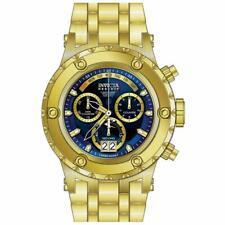 Invicta 80488 Men's Subaqua Chronograph Dive Blue Dial Gold Tone Bracelet Watch