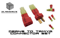 Airsoft RC Car Deans to mini Tamiya Connector Male And Female Set UK Stock