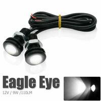 2*Car Motorcycle 9W LED Eagle Eye Daytime Running DRL Tail Light Backup Lamp 12V