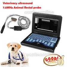 Vet Veterinary Portable B Ultrasound Diagnostic System Scanner 75m Rectal Probe