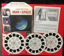 1962 View-Master 3 Reel Set America's Man In Space With Booklet