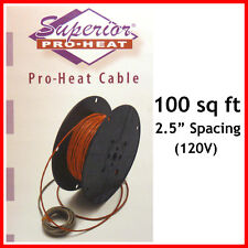 (make an Offer) Watts Radiant Superior Pro-Heat Floor Warming Cable - 100 SqFt